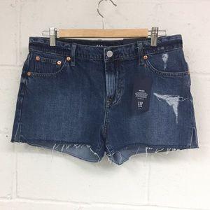 GAP cut-off denim shorts. Women's 28
